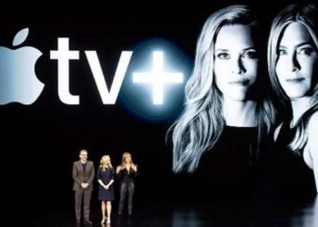 Jennifer Aniston y Reese Witherspoon. Apple TV+. THE MORNING SHOW.