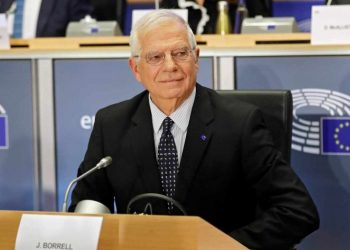 Brussels (Belgium), 07/10/2019.- Josep Borrell, European Commissioner-designate as High Representative of the Union for Foreign Affairs and Security Policy, attends his hearing before the European Parliament in Brussels, Belgium, 07 October 2019. MEPs from various committees are hearing the proposed members of Commission President-elect von der Leyen's. Commissioners have to be approved by the parliament following parliamentary vetting process. (Bélgica, Bruselas) EFE/EPA/OLIVIER HOSLET