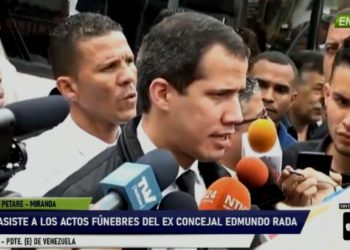 Pdte. (E) de Venezuela, Juan Guaidó desde Petare. 20Oct2019. Foto captura video VPI TV.