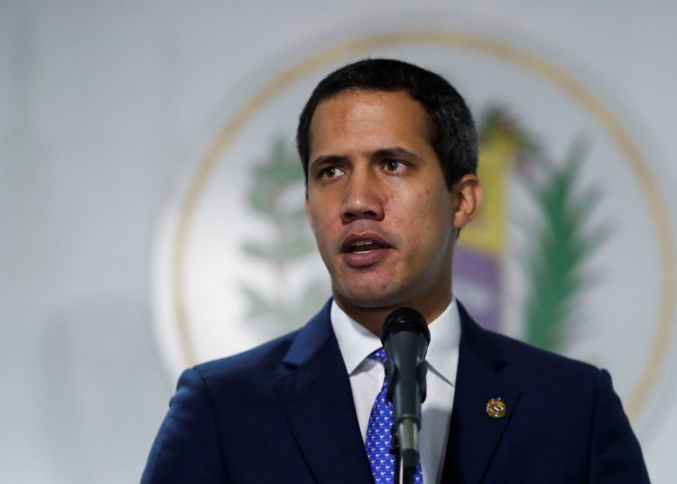 Venezuelan opposition leader Juan Guaido, who many nations have recognised as the country's rightful interim ruler, speaks during a news conference in Caracas, Venezuela September 30, 2019. REUTERS/Carlos Garcia Rawlins