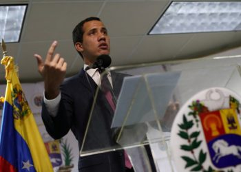 Venezuelan opposition leader Juan Guaido, who many nations have recognised as the country's rightful interim ruler, delivers a news conference in Caracas, Venezuela September 16, 2019. REUTERS/Ivan Alvarado