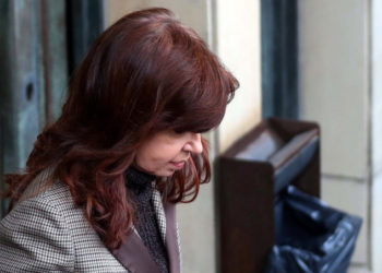 Former Argentine President Cristina Fernandez de Kirchner leaves the Justice building in Buenos Aires, Argentina, August 13, 2018. REUTERS/Marcos Brindicci