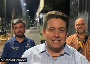 Alcalde de Chacao, Gustavo Duque. Foto captura de video.