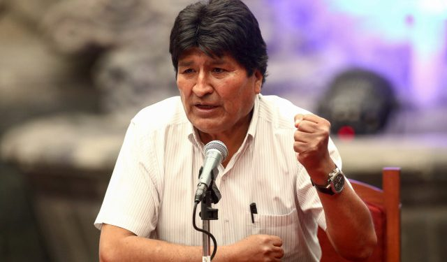 Bolivia's former president Evo Morales speaks during a news conference in Mexico City, Mexico November 13, 2019. REUTERS/Edgard Garrido
