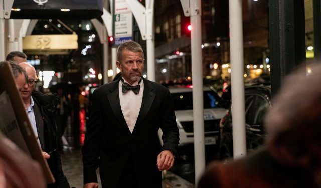 FILE PHOTO: Erik Prince arrives for the New York Young Republican Club Gala at The Yale Club of New York City in Manhattan in New York City, New York, U.S., November 7, 2019. REUTERS/Jeenah Moon/File Photo