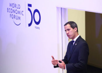 Venezuela's National Assembly President and opposition leader Juan Guaido, who many nations have recognised as the country's rightful interim ruler, attends the 50th World Economic Forum (WEF) annual meeting in Davos, Switzerland, January 23, 2020. REUTERS/Denis Balibouse