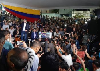 Juan Guaidó. Pdte. (E) de Venezuela. Foto captura de video.