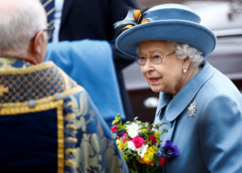 Britain's Queen Elizabeth II leaves after the annual Commonwealth Service at Westminster Abbey in London, Britain March 9, 2020. REUTERS/Henry Nicholls
