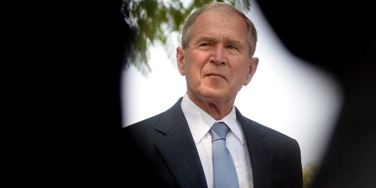 Former President George W. Bush visitsthe Theresanyo primary school in Gaborone, Botswana, during an official visit on April 4