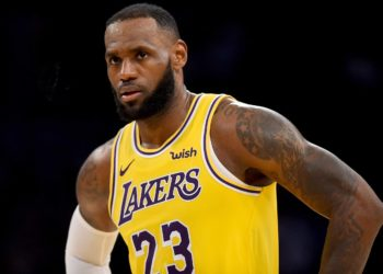 LOS ANGELES, CA - OCTOBER 22: The Lakers' LeBron James #23 during their game against the Spurs at the Staples Center on​ Mon. Oct. 22, 2018. The Spurs defeated the Lakers 143-142 in overtime. (Photo by Hans Gutknecht/Digital First Media/Los Angeles Daily News via Getty Images)