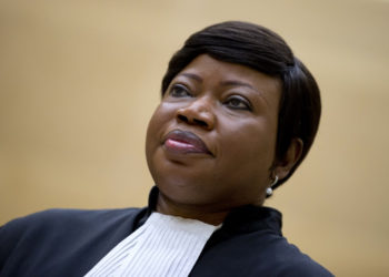 (FILES) In this file photo taken on September 29, 2015 at the International Criminal Court (ICC) in The Hague shows ICC chief prosecutor Fatou Bensouda whose office said on Arpil 5, 2019, the United States has revoked her visa over a possible investigation of American soldiers' actions in Afghanistan. (Photo by PETER DEJONG / POOL / AFP)