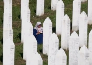 Víctimas del genocidio de Srebrenica. Foto captura de video EFE.