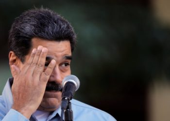 Venezuela's President Nicolas Maduro attends a gathering in support of his government in Caracas, Venezuela February 7, 2019. REUTERS/Carlos Barria
