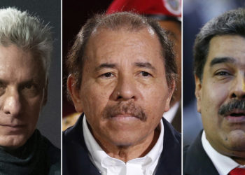 "This combination of images shows, from left, Cuba's President Miguel Diaz-Canel, Nicaragua's President Daniel Ortega and Venezuela's President Nicolas Maduro. The Trump administration on Wednesday, April 17, 2019, intensified its crackdown on Cuba, Nicaragua and Venezuela, rolling back Obama administration policy and announcing new restrictions and sanctions against the three countries whose leaders national security adviser John Bolton dubbed the ""three stooges of socialism."" (AP Photos)"