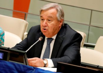 El secretario general de la ONU, Antonio Guterres. EFE/ Peter Foley/ ARCHIVO
