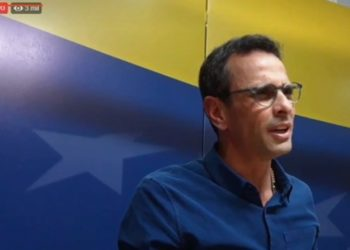 Henrique Capriles. Foto captura de video.