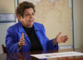 "In this Wednesday, March 7, 2018 photo, former Health and Human Services secretary Donna Shalala speaks during an interview in Miami. Shalala is vying to be the Democratic pick to snatch a Florida congressional seat held for nearly three decades by retiring Republican Rep. Ileana Ros-Lehtinen. Her sight is already set on President Donald Trump, who she calls an ""embarrassment."" (AP Photo/Lynne Sladky)"
