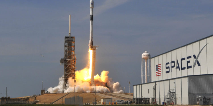A SpaceX Falcon 9 rocket lifts off from Pad 39A Kennedy Space Center Friday, May 11, 2018. The rocket is carrying a communications satellite for Bangladesh.