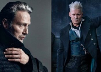 Mads Mikkelsen y Johnny Deep. Foto collage.