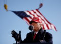 U.S. President Donald Trump speaks during a campaign rally at Fayetteville Regional Airport in Fayetteville, North Carolina, U.S., November 2, 2020. REUTERS/Carlos Barria